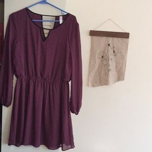 Target Purple Dress with Black Piping